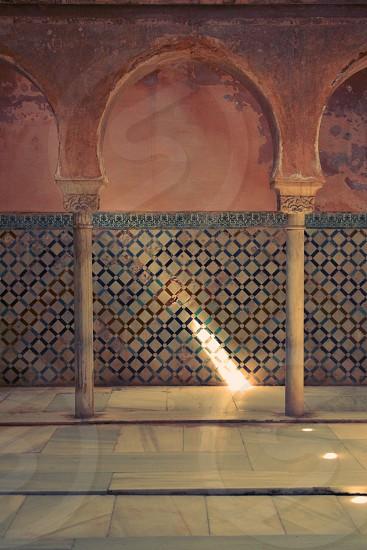 Alhambra Sauna Mosaic Light Arabic Granada Spain  photo
