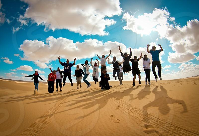 Western desert safari group photo