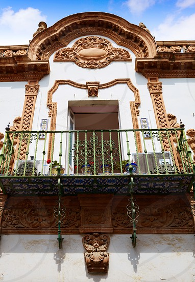 Triana barrio of Seville facades Andalusia Sevilla Spain photo