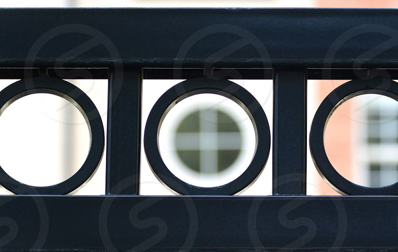 Shapes circles Windows Metal Bars Patterns Geometric Geometry   photo
