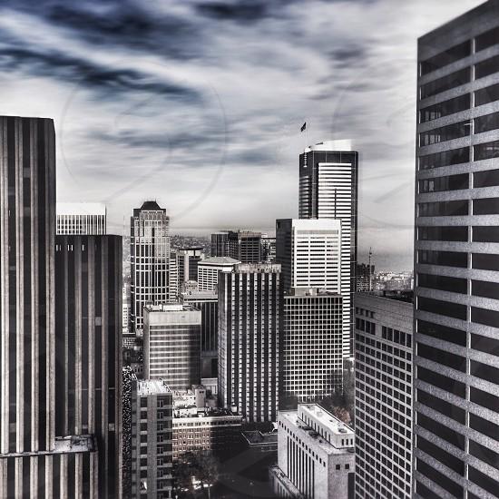gray buildings high angle photo