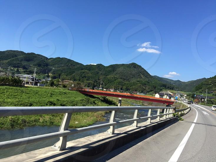 japanroaddrivedrivingriverskynaturebluesunnyworldbeautifulhot photo