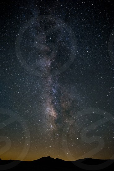 Milky Way with its galactic core above the horizon photo