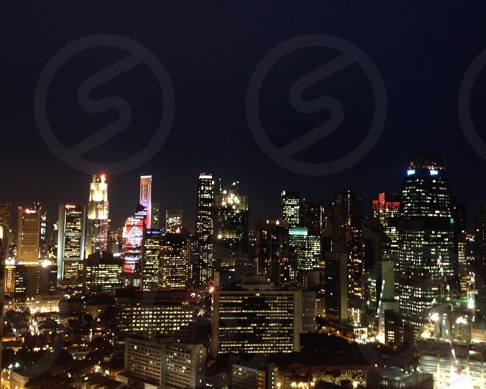 cityscape at night photo
