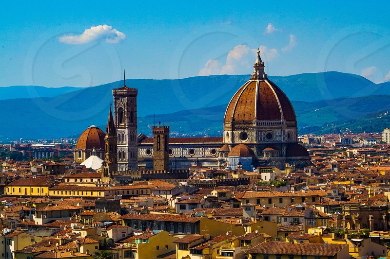 Florence Duomo seen from Piazzale Michelangelo  photo