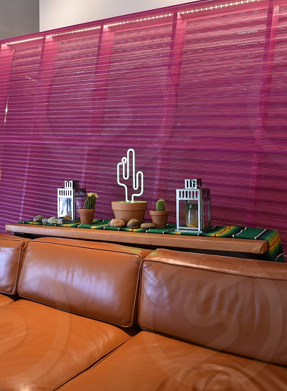 southwestern style interior design design desert cactus saguaro palm springs photo