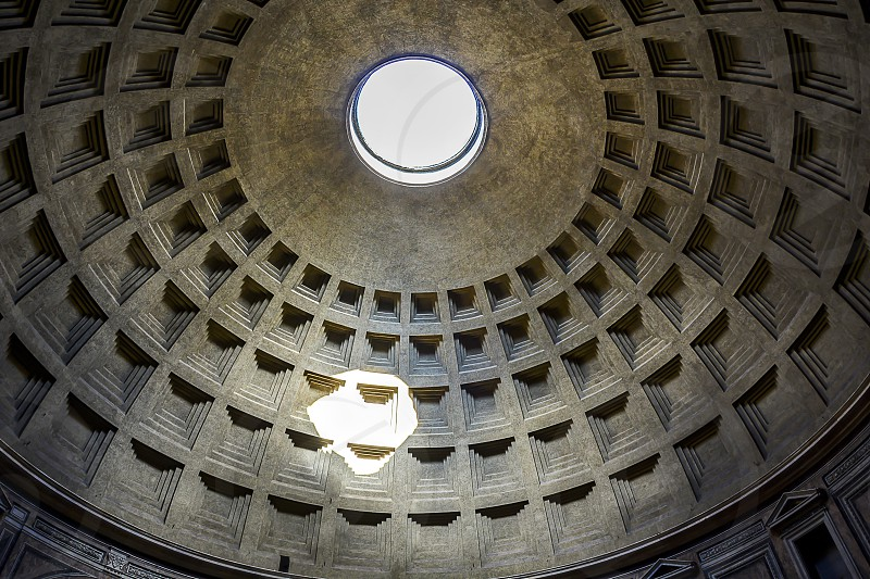 interior of the Pantheon dome in Rome photo