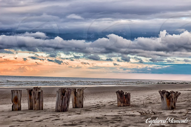 Folly Beach ocean waves sunset relaxing photo