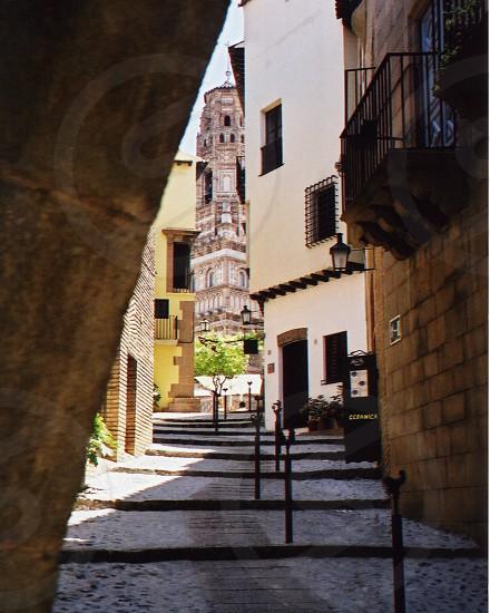Street view in Barcelona Spain photo