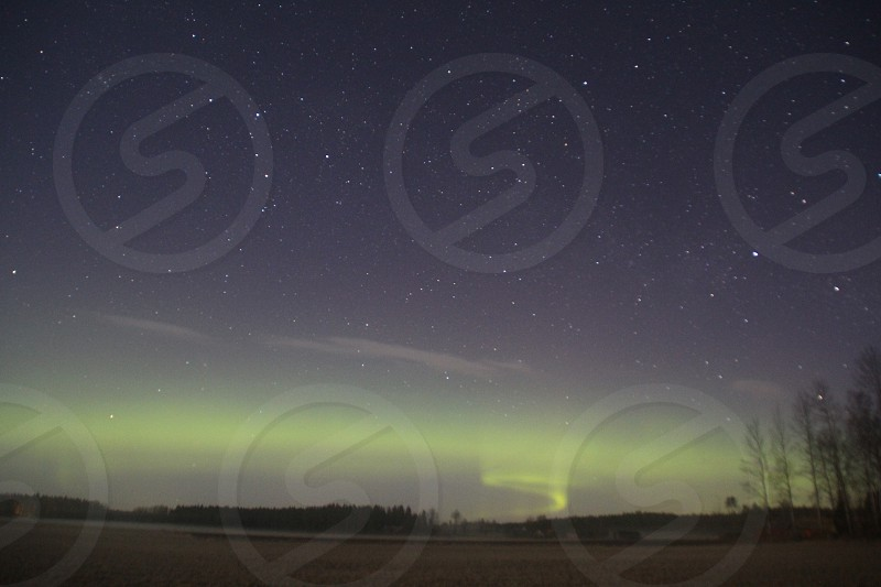 Northern lights aurora borealis in Sweden photo