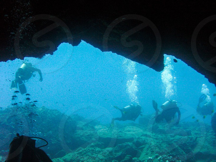 Scuba diving cave water Hawaii  photo