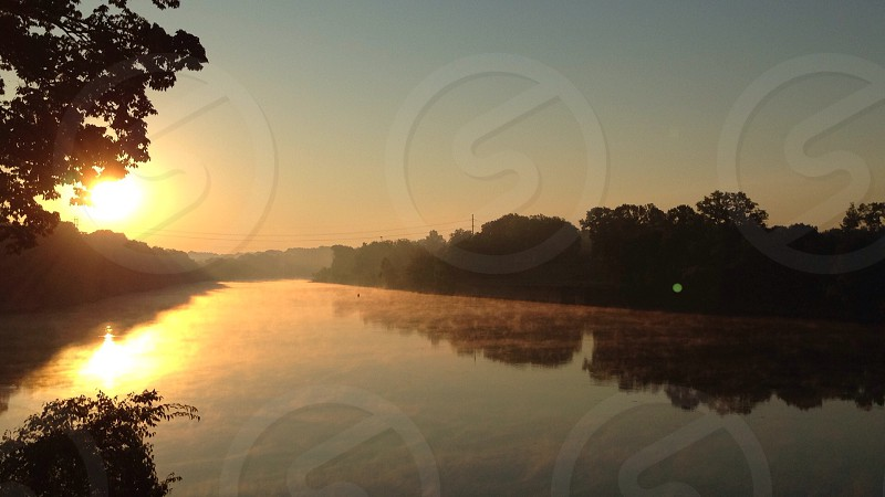 Sunrise on The Cumberland. Taken just north of Nashville TN. photo