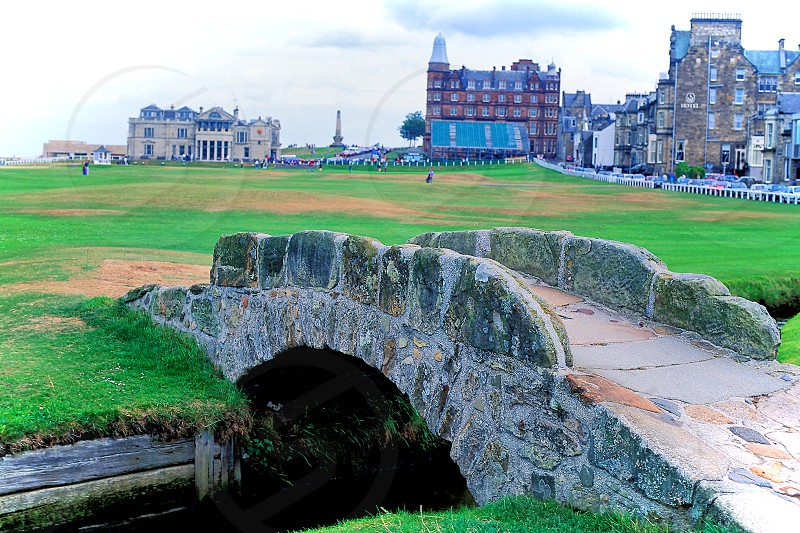 The bridge on the 18th hole at St. Andrew's in Scotland. photo