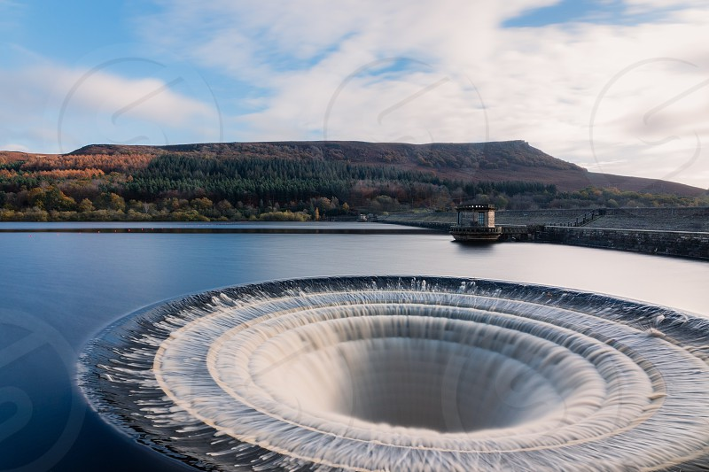 Ladybower reservoir outflow. photo