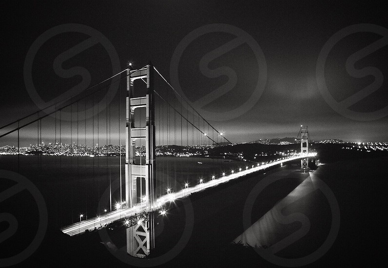 20Second Black and White Exposure of The Golden Gate Bridge in all her glory on a brisk April evening. photo