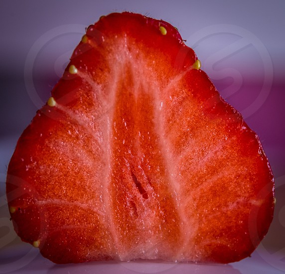 halved strawberry photo