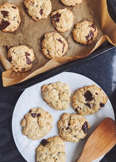 Baking cookies food chocolate photo