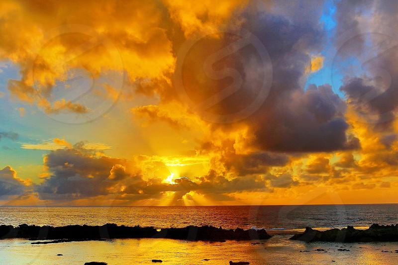 Sunset in Hawaii. photo