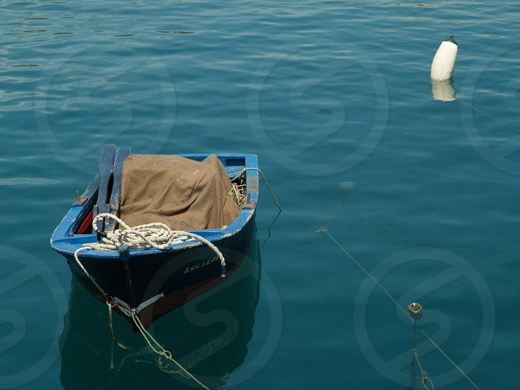 Boat in bay. photo