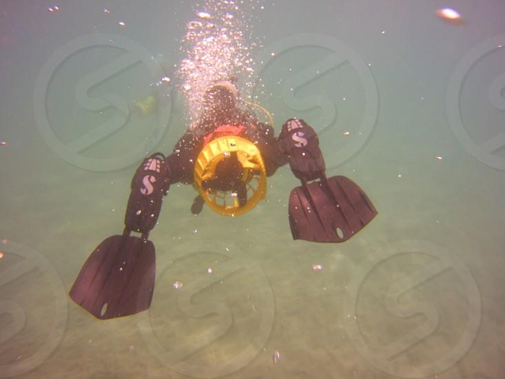 Scuba diving scooter water ocean photo