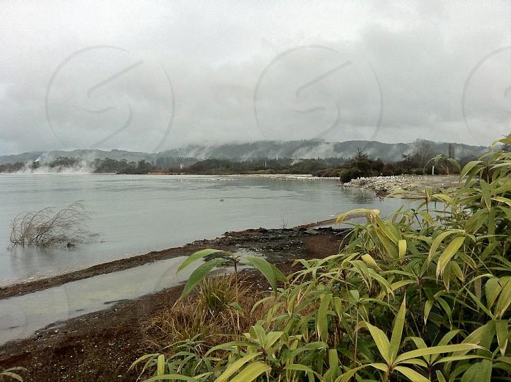 Lake Taupo in Waikato County New Zealand photo