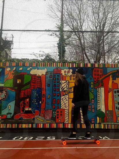 multicolored street art photo