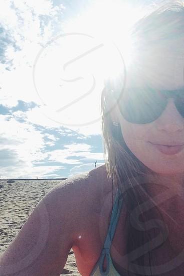 Beach flare photo
