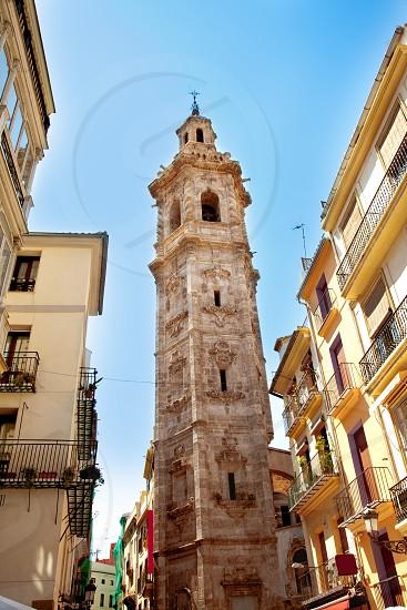 Santa Catalina church tower in Valencia Spain photo