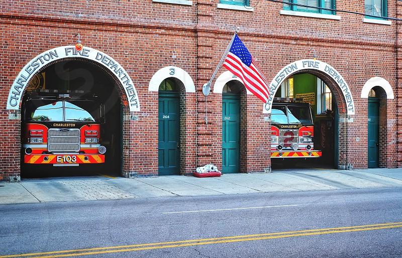 Charleston Firestation in South Carolina USA. photo