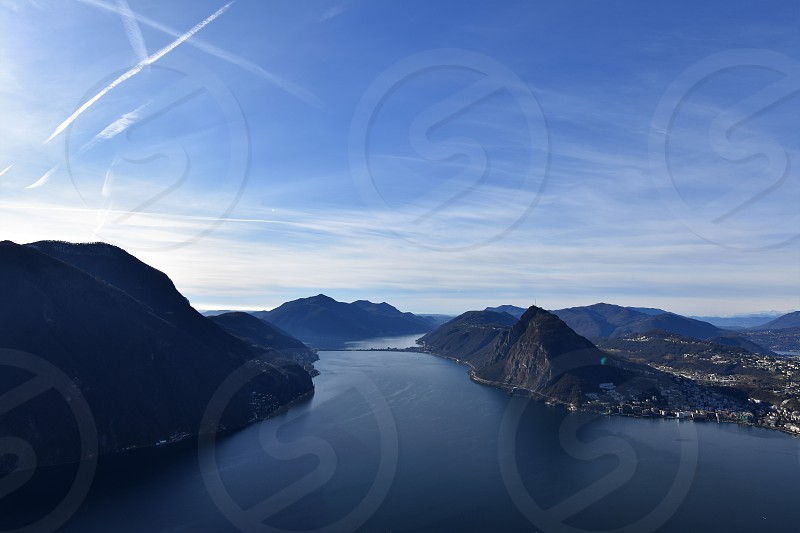 View from the Monte Bre over Lugano / Switzerland photo