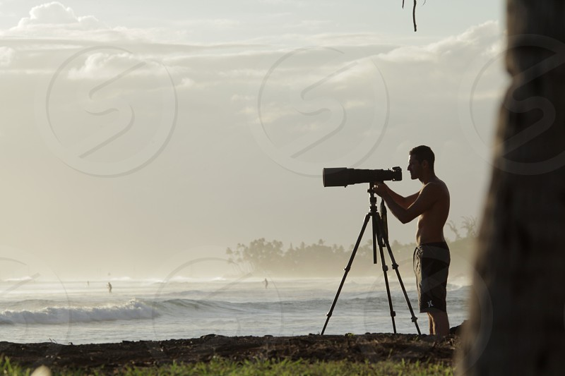 Me shooting on the south shore of Maui.  photo