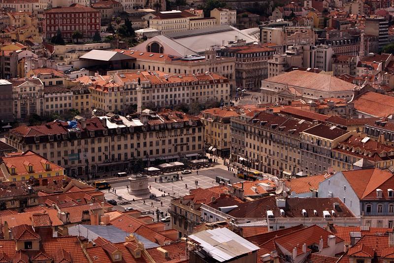 the paraca da figueira in the city centre of Baixa in the city centre of Lisbon in Portugal in Europe. photo