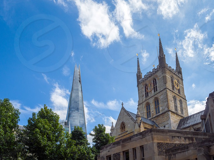 Southwark Cathedral Sharing the London Skyline with the Shard photo