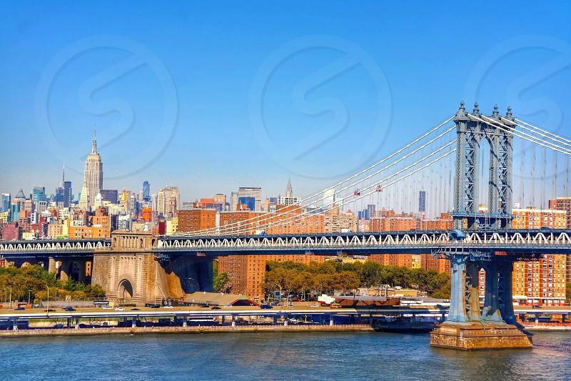 Manhattan bridgeNew YorkHudson river photo