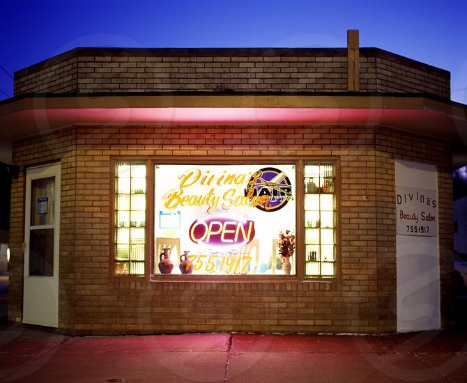 """Divina's Beauty Salon"" shot with Mamiya RZ67 on Kodak e200 slide film. Copyright: Allison Everhard photo"