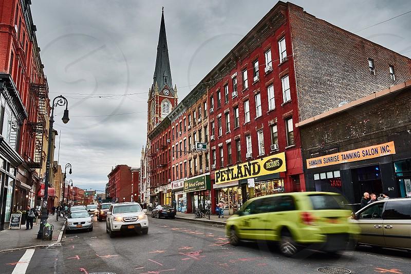 Manhattan Avenue at Greenpoint Brooklyn photo