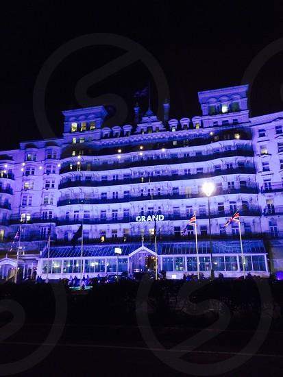 Grand Hotel Brighton beautifully lit up photo