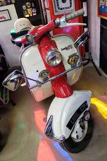 Lambretta 150 Scooter in the Motor Museum at Bourton-on-the-Water photo