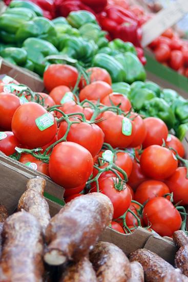 Vegetables tomatoes produce market photo