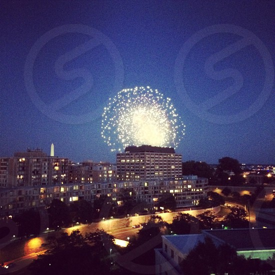 4th of July fireworks from the top of the Watergate Hotel photo