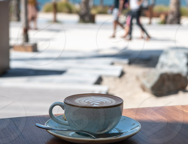 Perfectly formed coffee at a restaurant in la Mer Beach resort Dubai photo