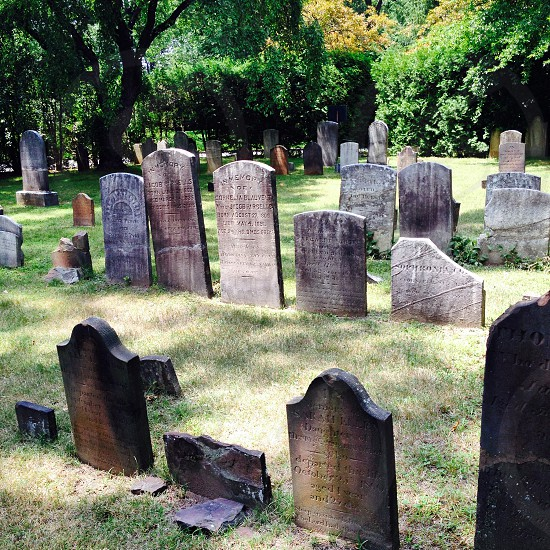 Historic graveyard Demarest NJ USA photo