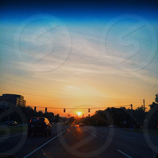 Sunset drives photo