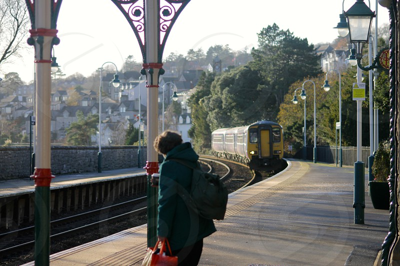 View coming into Grange over Sands station  Cumbria photo