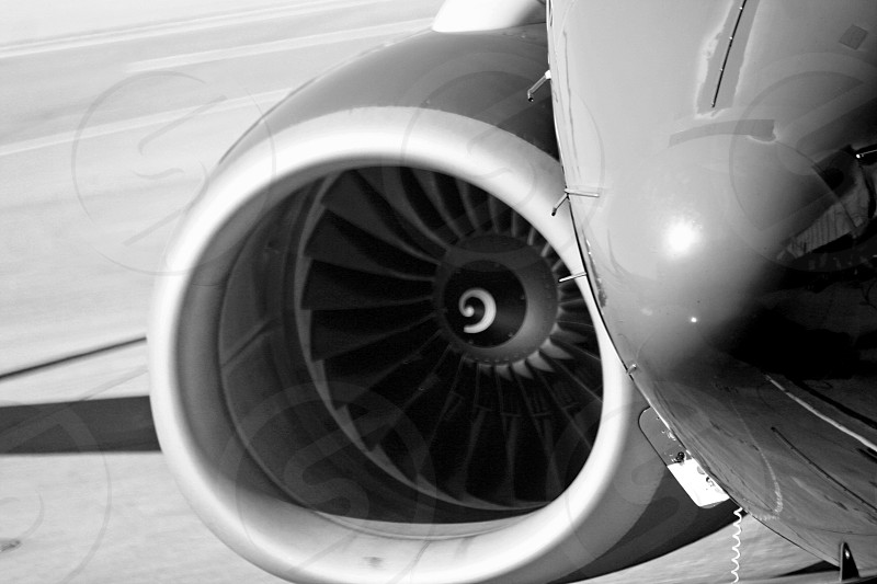airplane gray scale photograph photo
