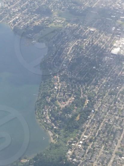flying over Tacoma washington photo