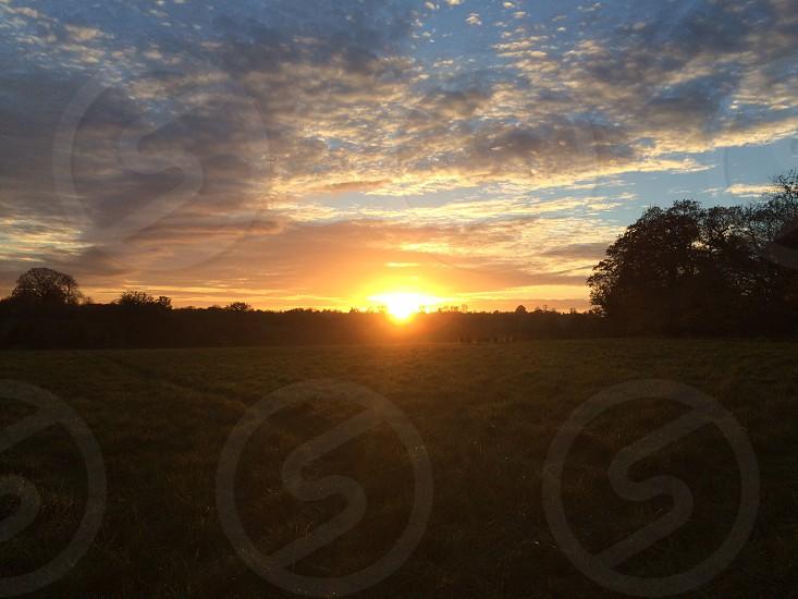 Wiltshire sunset photo