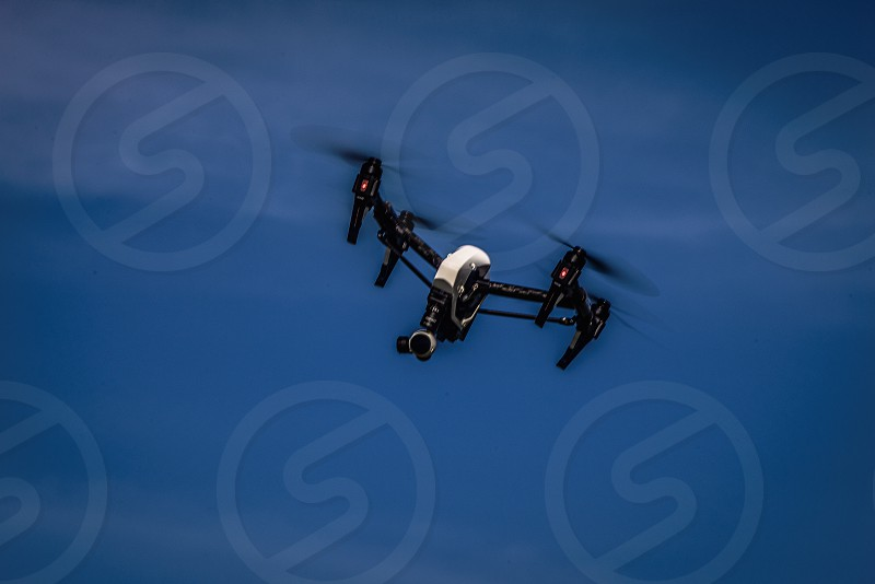 Image of a drone in flight photo