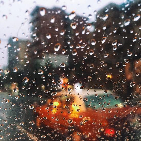 rain mood taxi gloomy weather winter lights city street urban photo