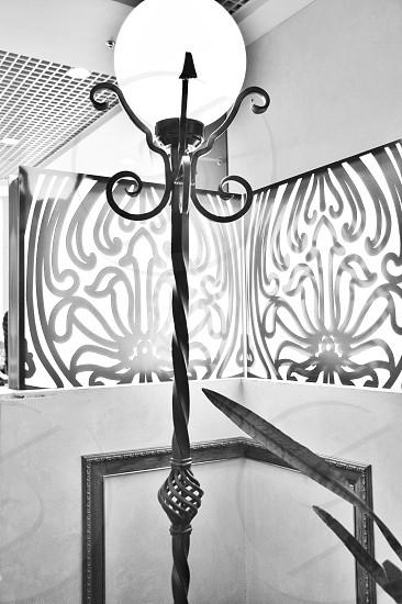 b&w photography on floor lamp photo